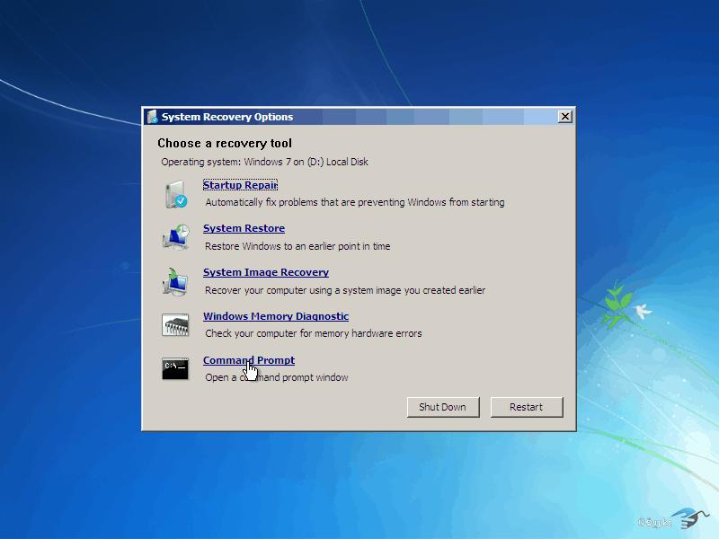 كيفية كسر واختراق كلمة السر لنظام التشغيل windows 7 بدون برامج 11
