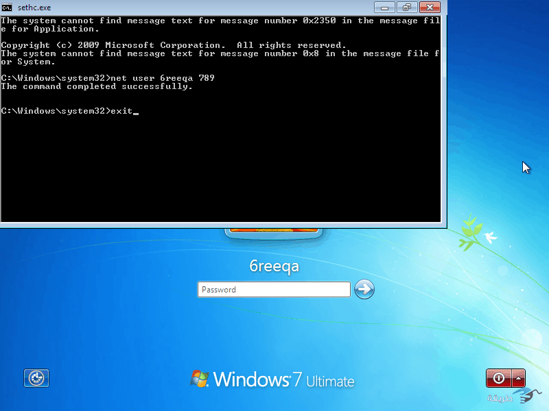 كيفية كسر واختراق كلمة السر لنظام التشغيل windows 7 بدون برامج 18