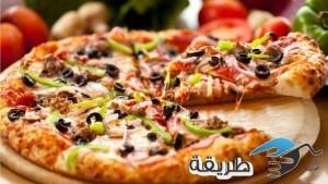 طريقة عمل البيتزا بالفراخ خطوة بخطوة 2016