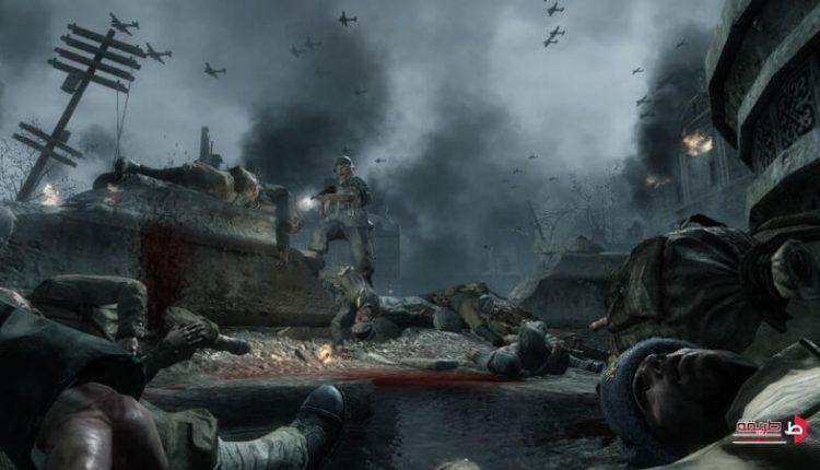 مشهد لقتل فريق من الجنود داخل لعبة كول اوف ديوتي ور