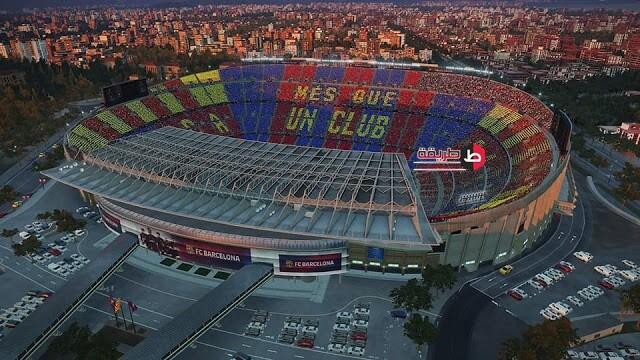 شكل الملعب من داخل لعبة pes 2019