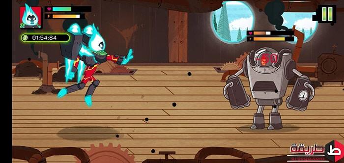 تحميل لعبة Ben 10 Omnitrix Hero: Aliens VS Robots